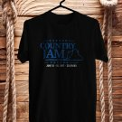 Country Jam Colorado Festival Black Tee's  Front Side by Complexart c1