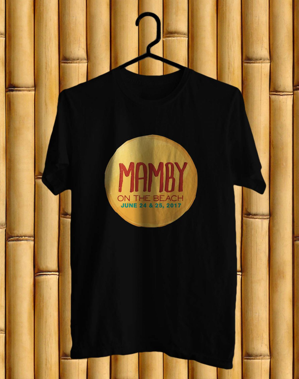 Mamby On The Beach Fest 2017 Black Tee's Front Side by Complexart c2