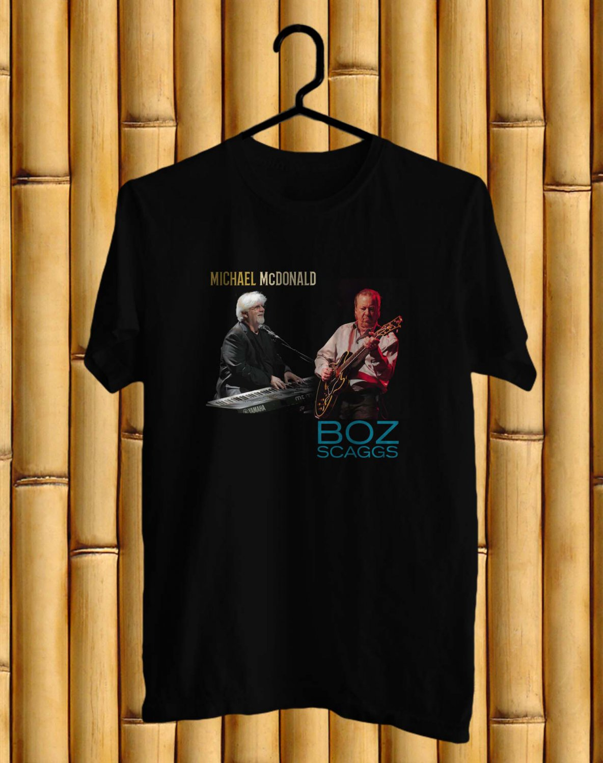 Michael McDonald & Bozz Scaggs tour 2017 Logo Black Tee's  Front Side by Complexart