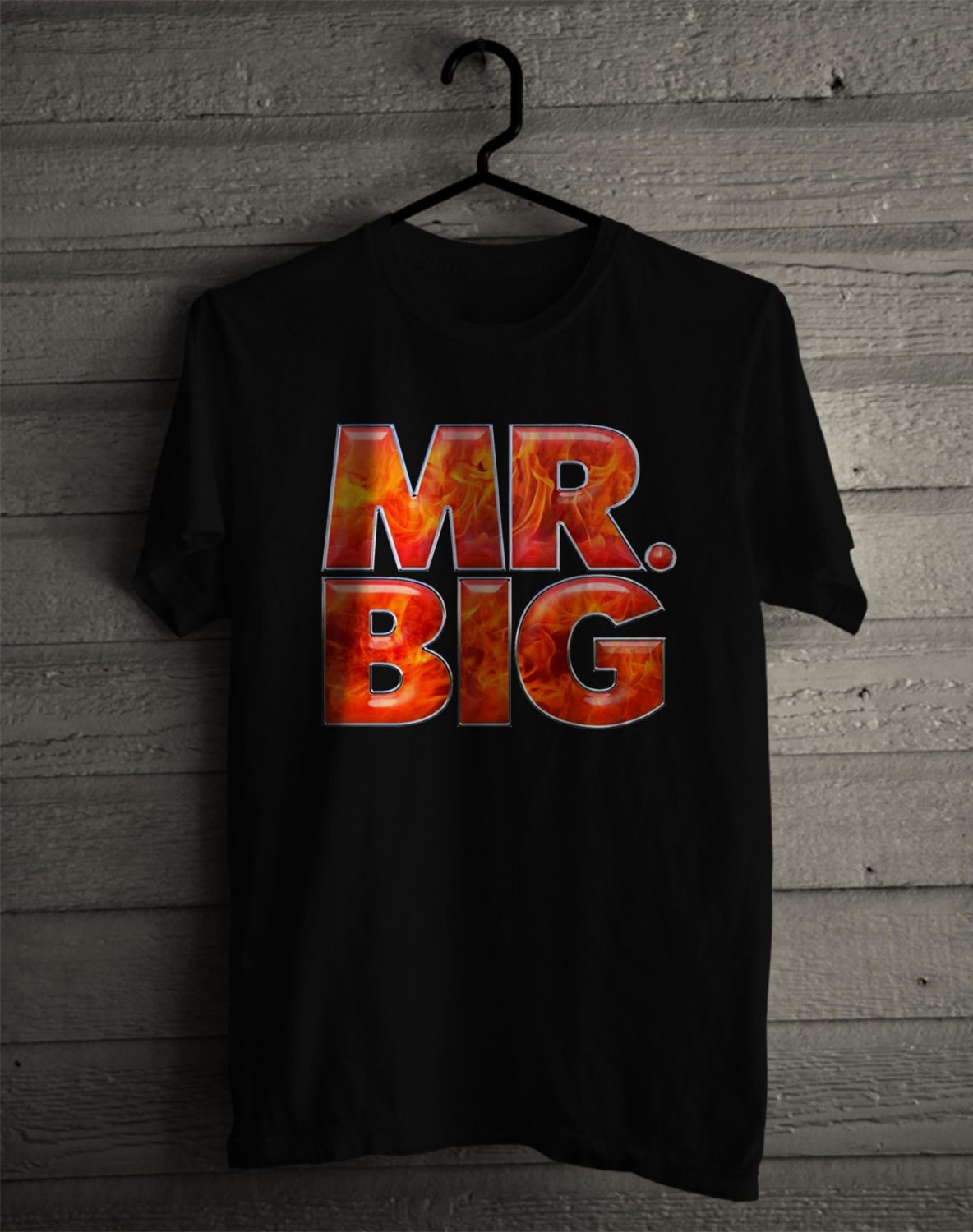Mr Big Logo Black Tee's  Front Side by Complexart