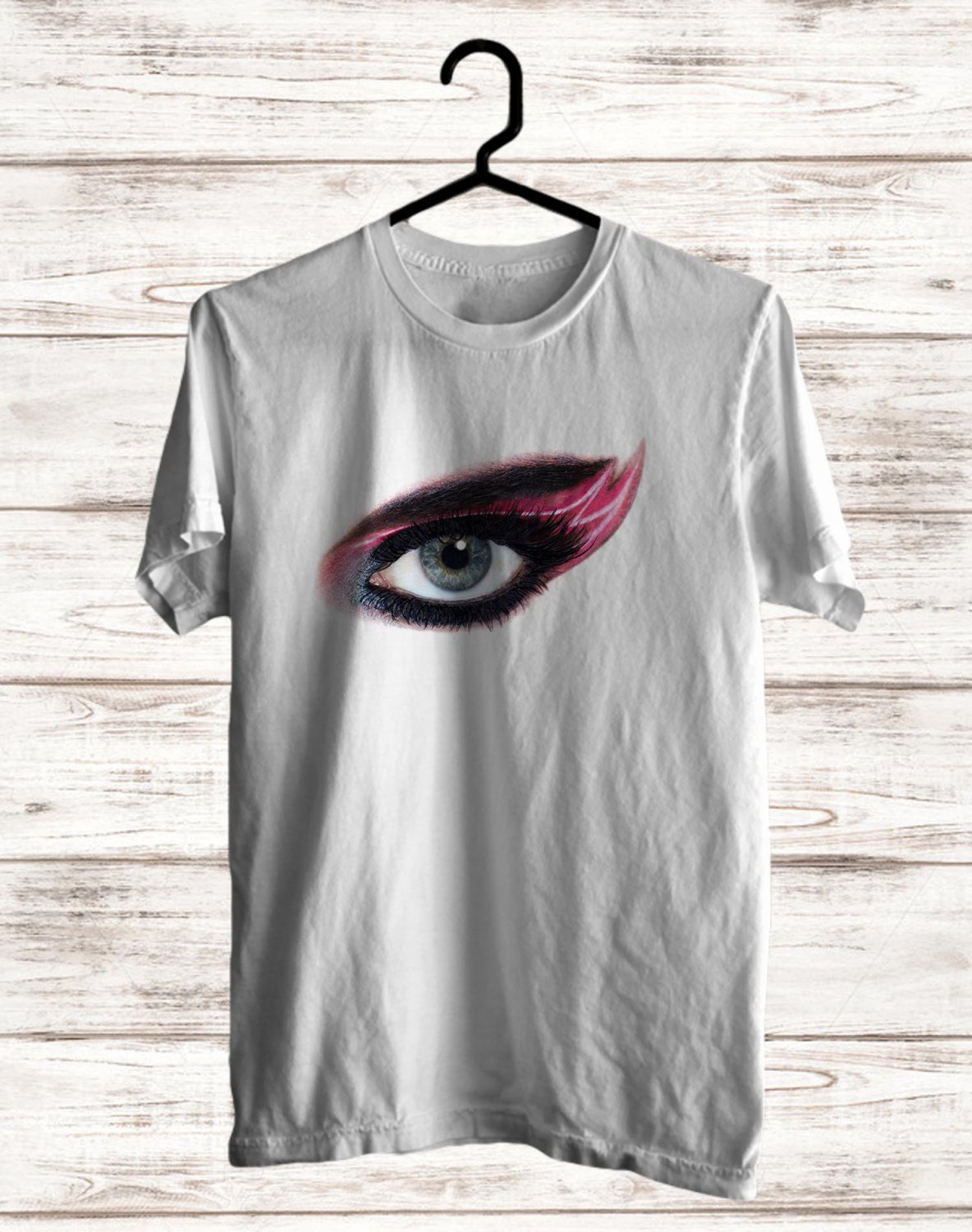 Katy Perry : Witness Tour 2017 White Tee's  Eye Front Side by Complexart