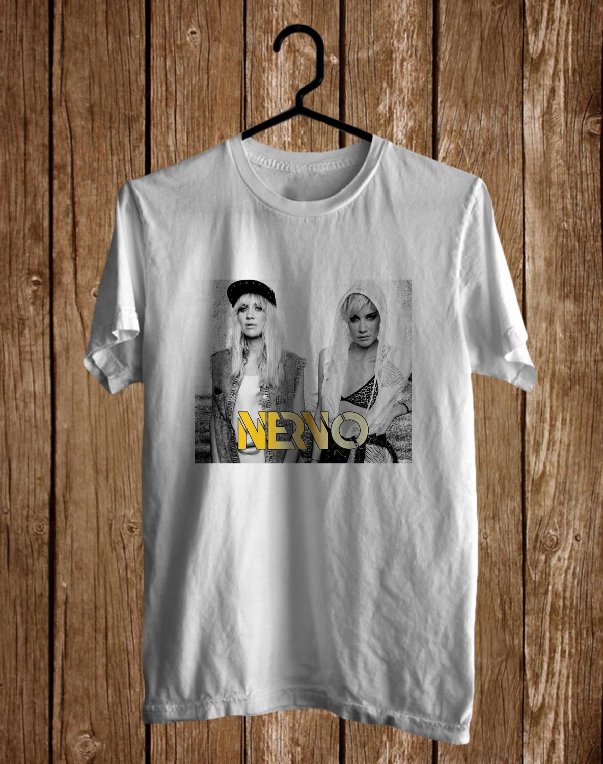 Nervo DJ Performance White Tee's Front Side by Complexart