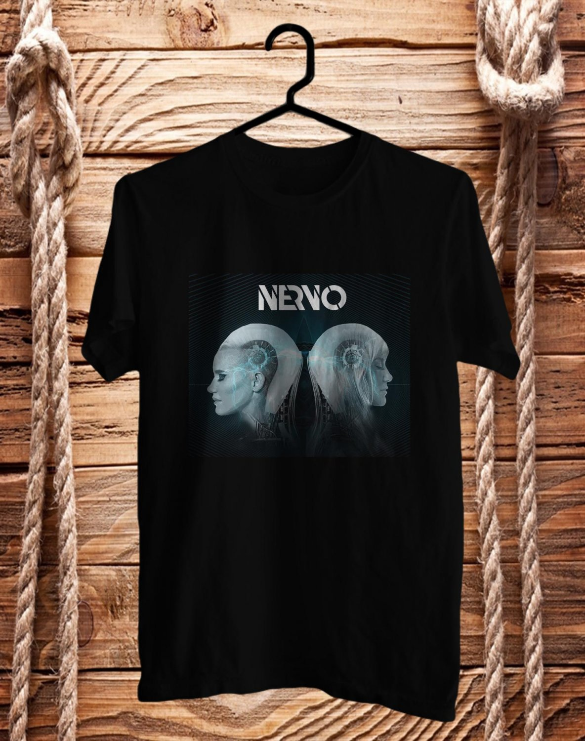 Nervo DJ Performance BLack Tee's Front Side by Complexart z2