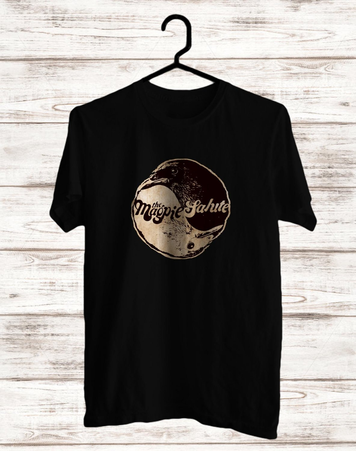 The Magpie Salute Tour 2017 BLack Tee's Front Side by Complexart z1