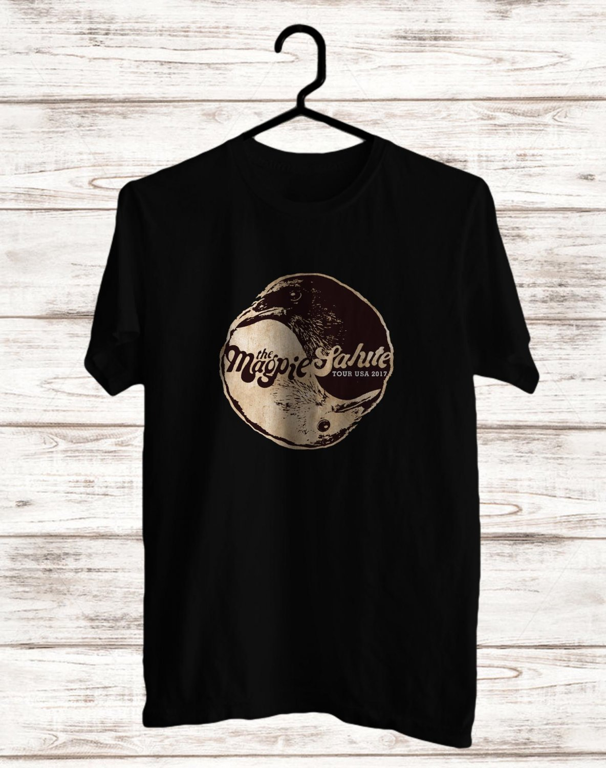 The Magpie Salute Tour 2017 BLack Tee's Front Side by Complexart z2