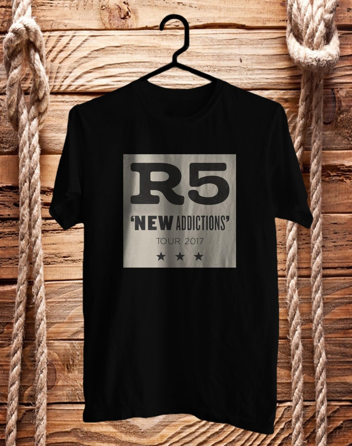 R5 : New Addictions Tour 2017 Black Tee's Front Side by Complexart