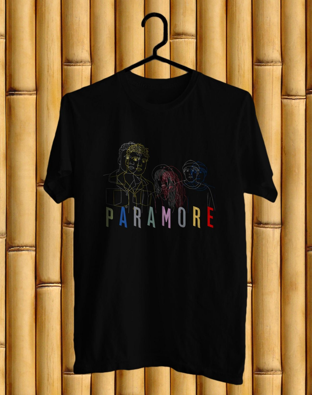 Paramore After Laughter New Album Tour 2017 Black Tee's Front Side by Complexart