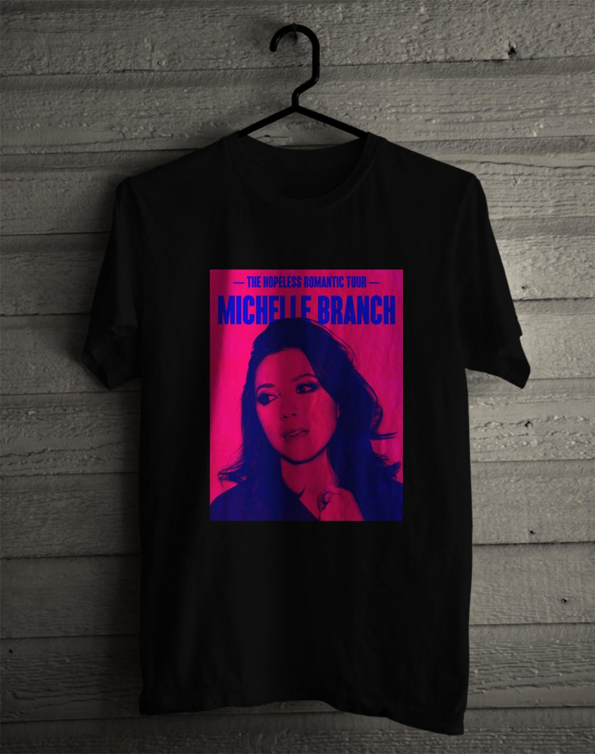 Michelle Branch Hopeless Romantic Tour 2017 BLack Tee's Front Side by Complexart