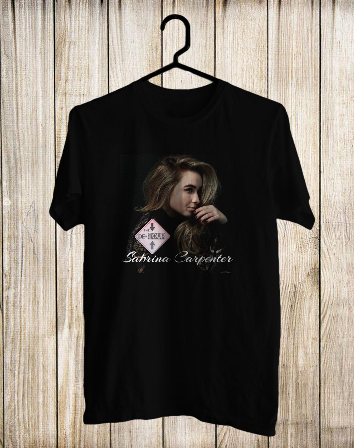 Sabrina Carpenter The De-Tour 2017 Black Tee's Front Side by Complexart z1