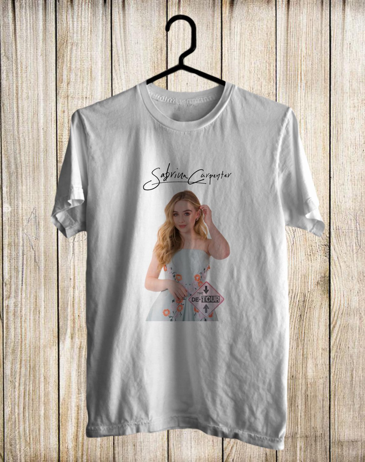 Sabrina Carpenter The De-Tour 2017 White Tee's Front Side by Complexart