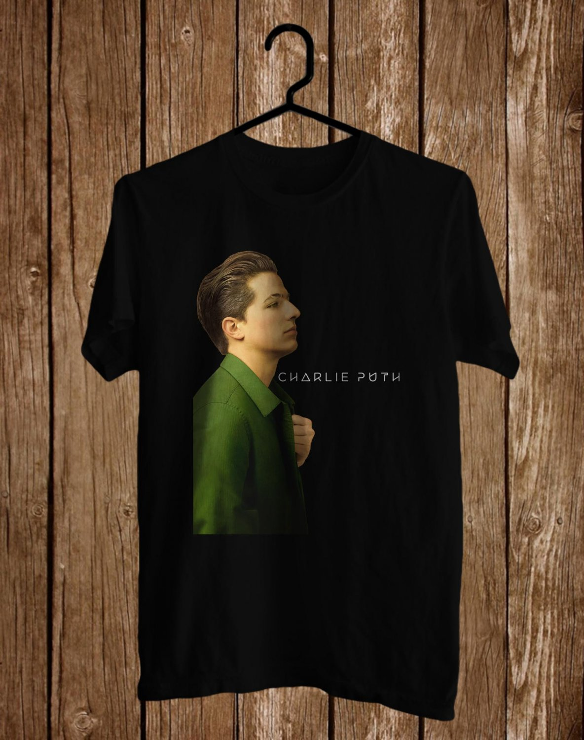 Charlie Puth Tour 2017 Black Tee's Front Side by Complexart z1