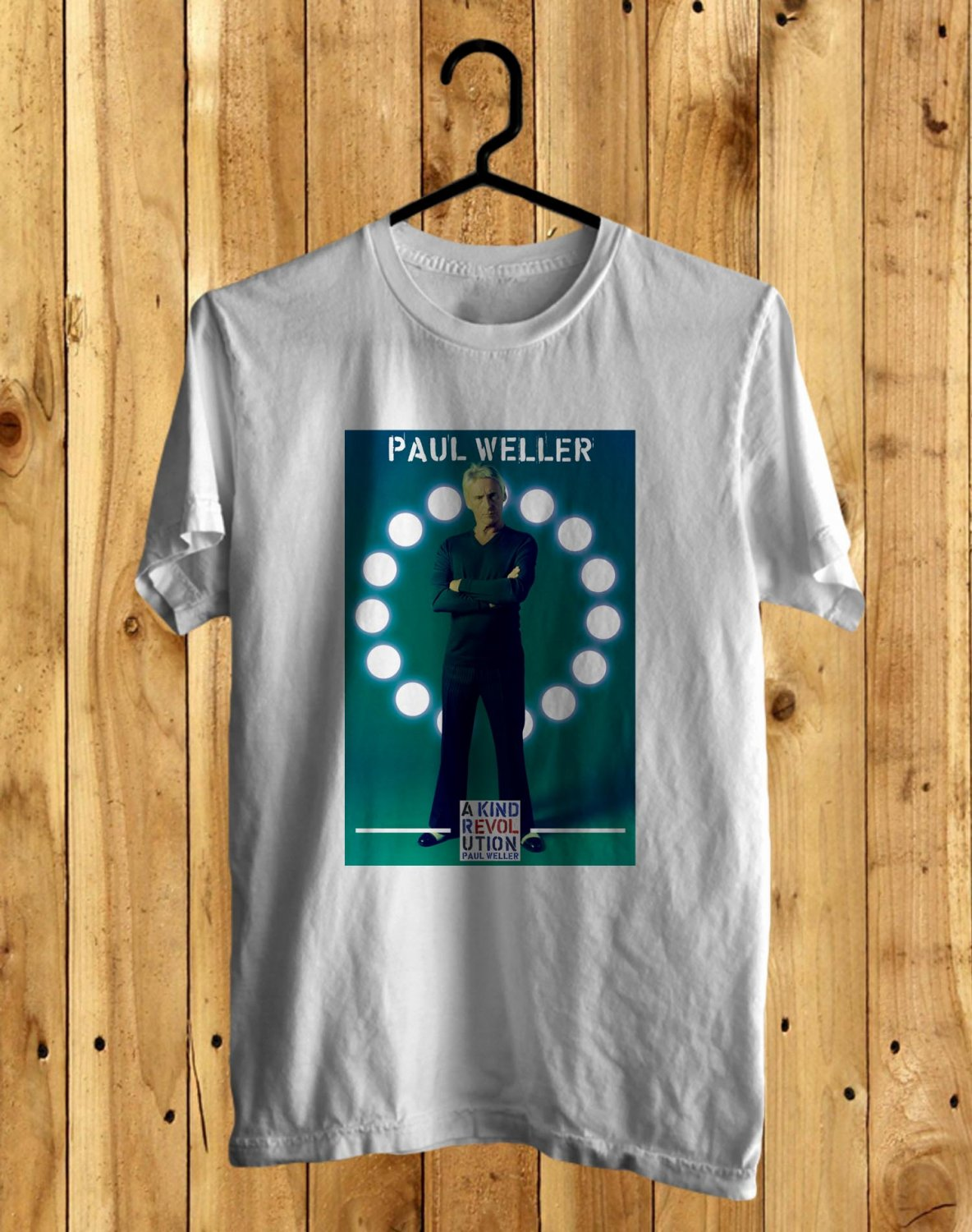 Paul Weller A Kind Revolution Tour 2017 White Tee's Front Side by Complexart z1