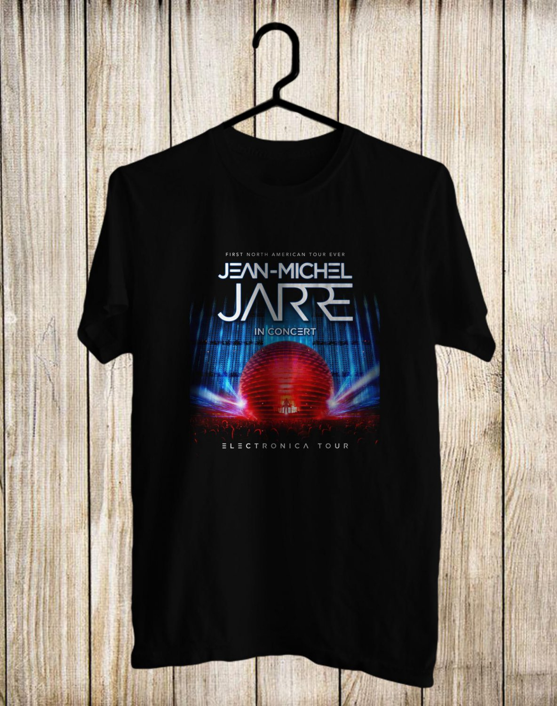 Jean-Michel Jarre Tour 2017 Black Tee's Front Side by Complexart z2