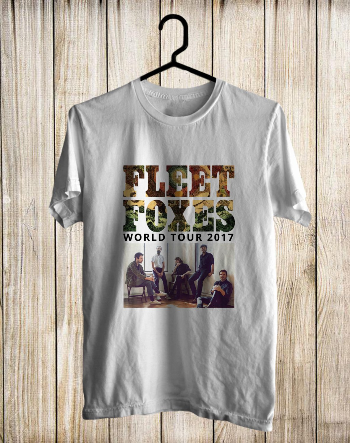 Fleet Foxes White Tee's Front Side by Complexart