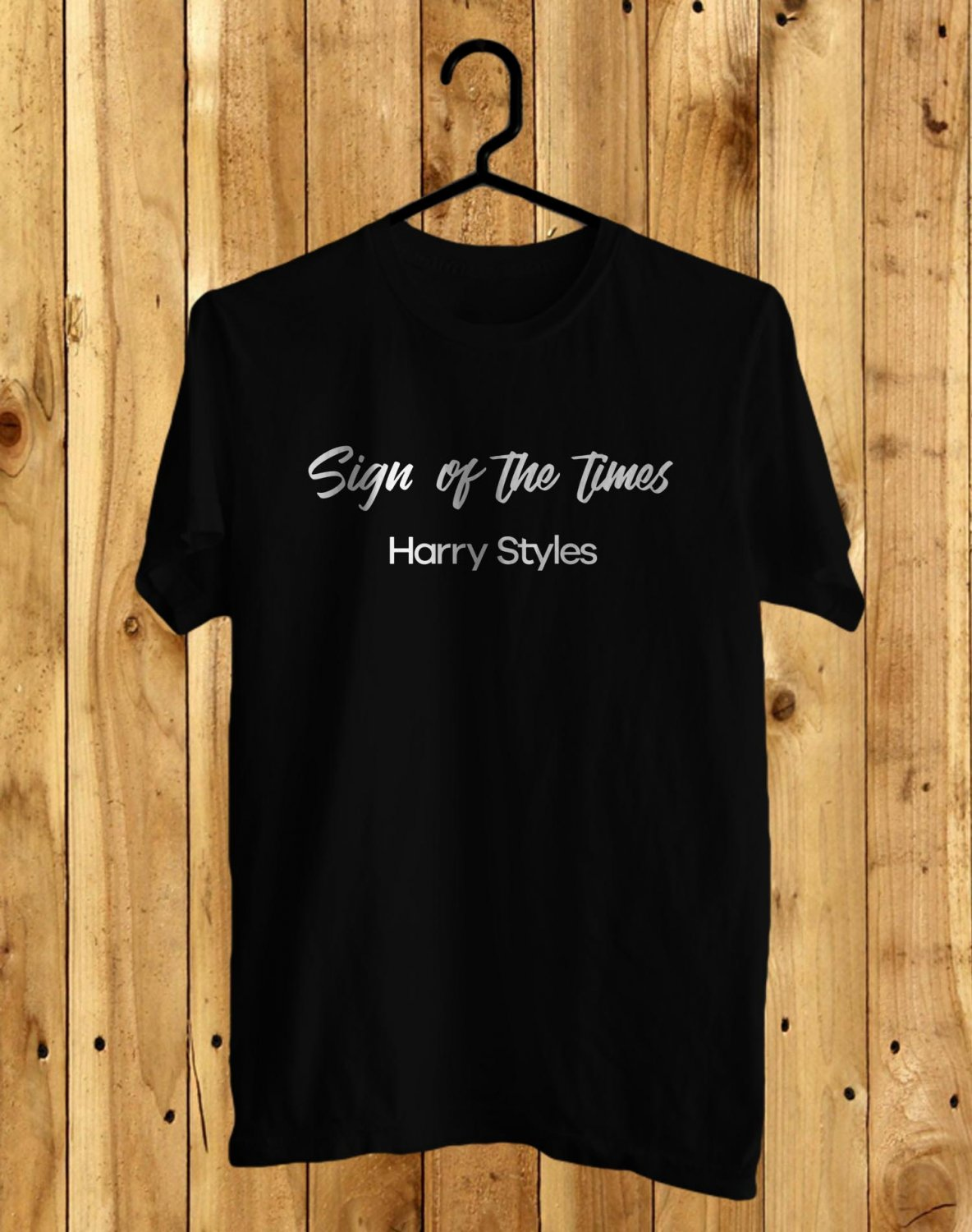 Harry Styles Live On Tour 2017 Black Tee's Front Side by Complexart z1