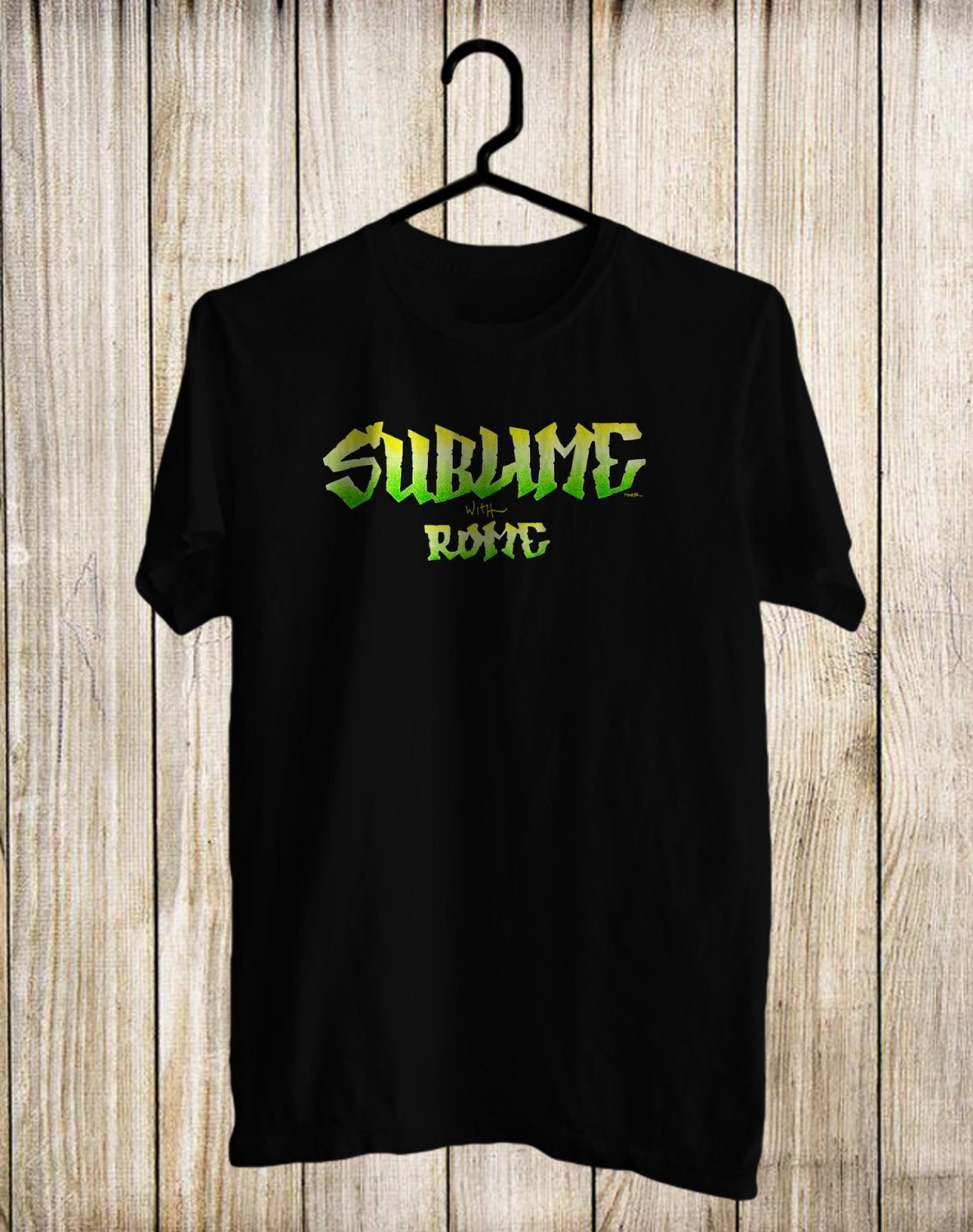 Sublime With Rome Tour 2017 Black Tee's Front Side by Complexart