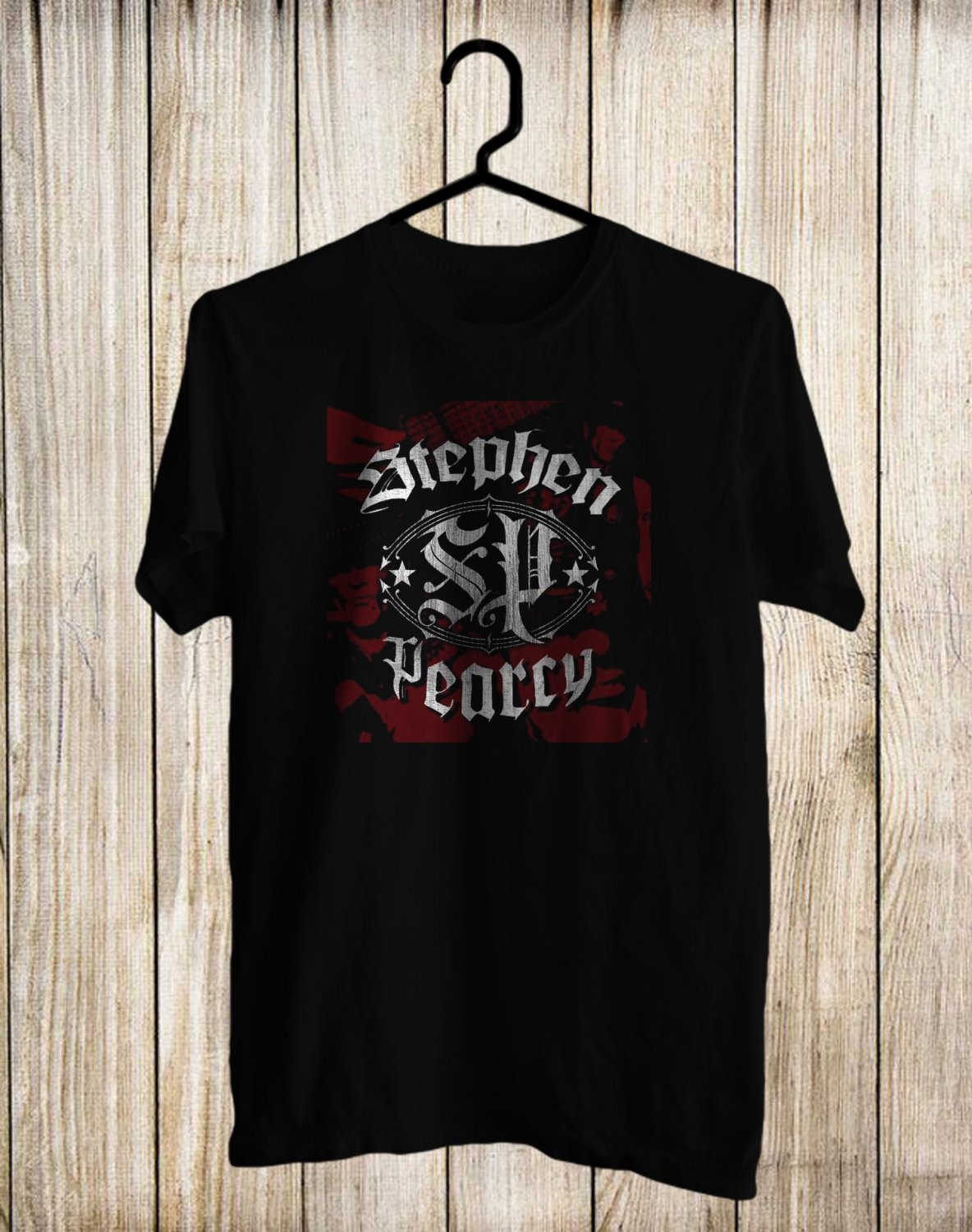 Stephen Pearcy Tour 2017 Black Tee's Front Side by Complexart