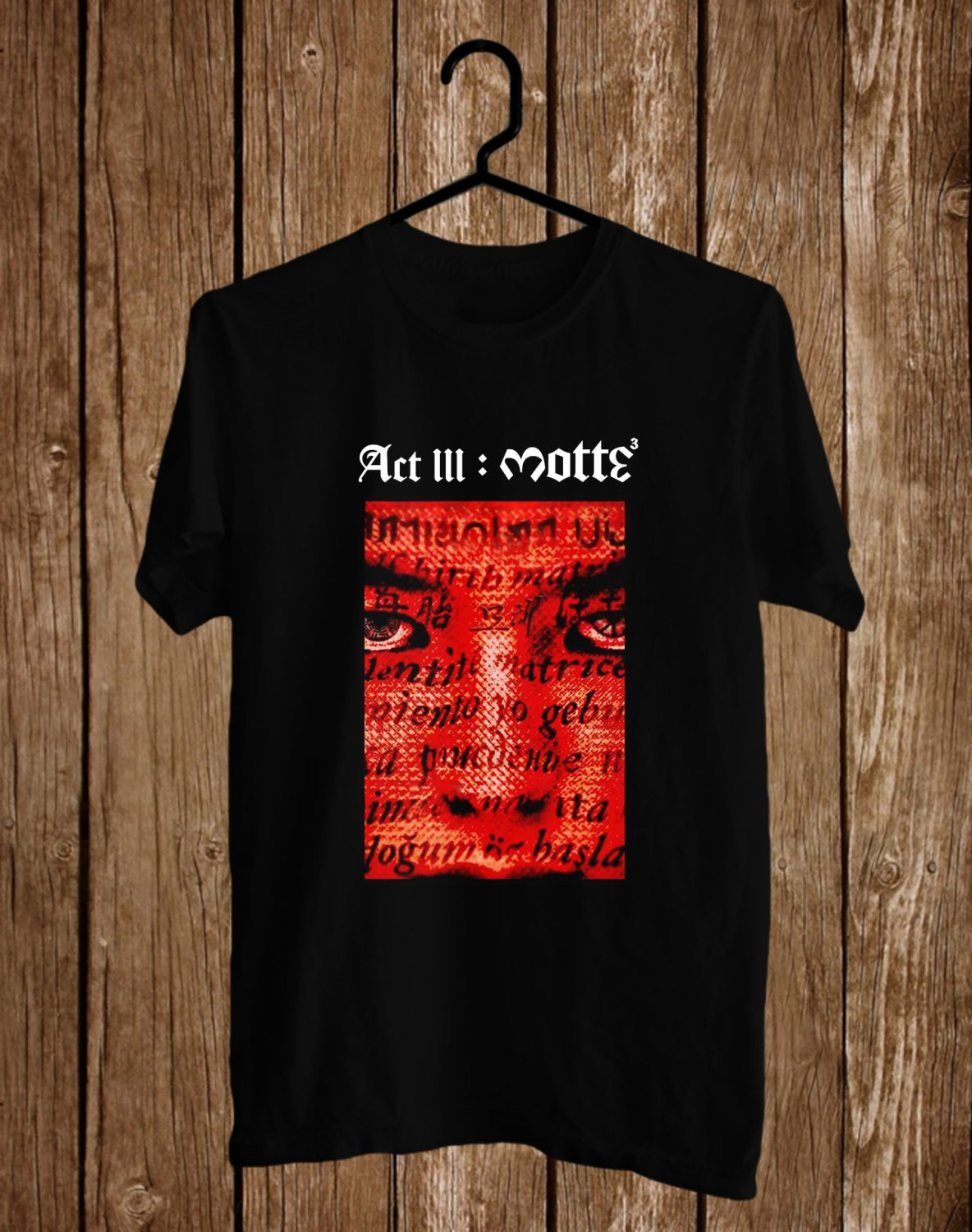 G-Dragon ACT III MOTTE WORLD TOUR 2017 Black Tee's Front Side by Complexart