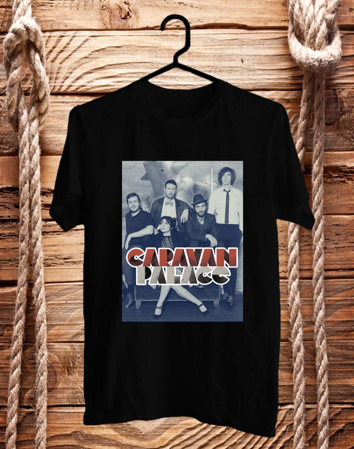 Caravan Palace N.America Tour 2017 Black Tee's Front Side by Complexart
