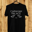 Caravan Palace Robot face Album 2017 Black Tee's Front Side by Complexart