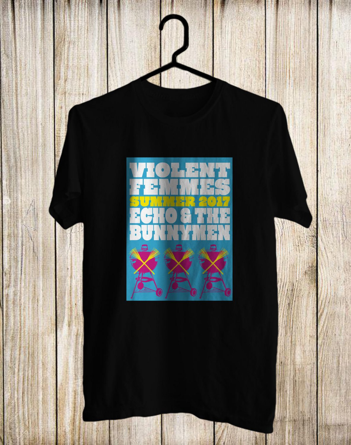 Violent Femmes and Echo&The Bunnymen Tour 2017 Black Tee's Front Side by Complexart z2