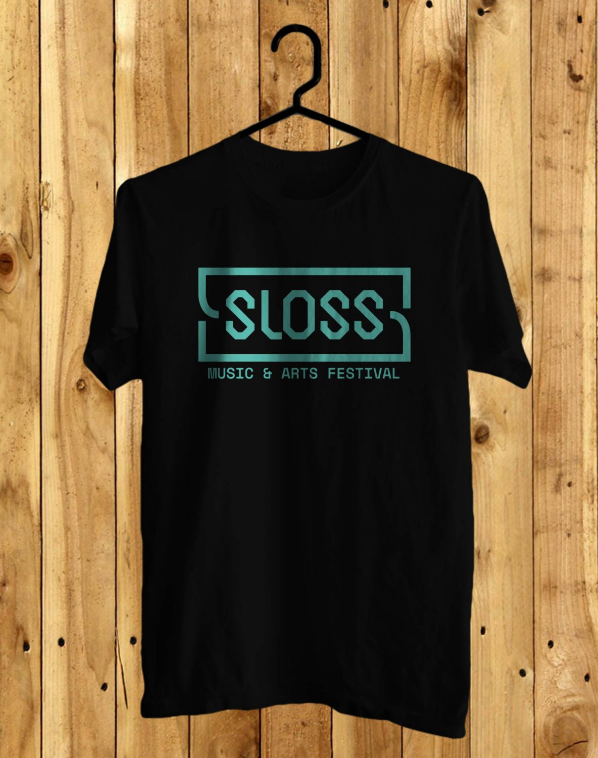 SLOSS Festival June 2017 Black Tee's Front Side by Complexart