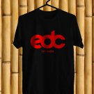 Electric Daisy Carnival Las Vegas Logo 2017 Black Tee's Front Side by Complexart