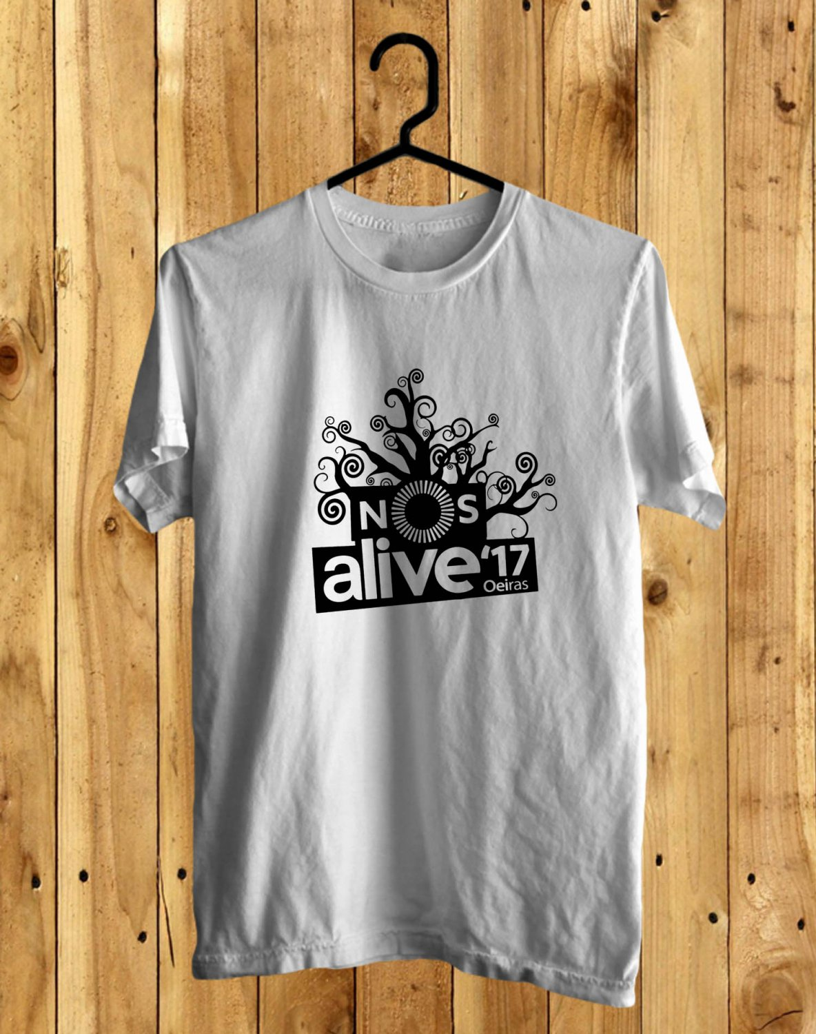 NOS ALIVE Portugal Logo White Tee's Front Side by Complexart