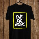 One OK Rock Yellow Logo Black Tee's Front Side by Complexart