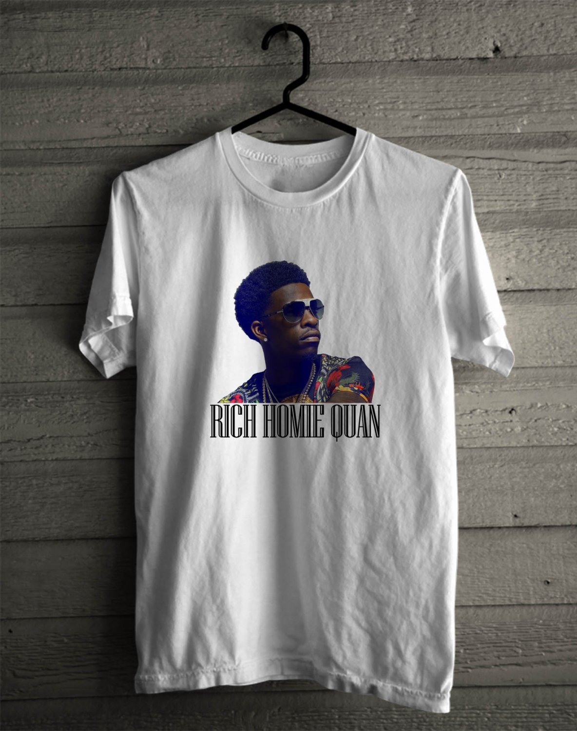 Rich Homie Quan Back to Basic Tour 2017 White Tee's Front Side by Complexart