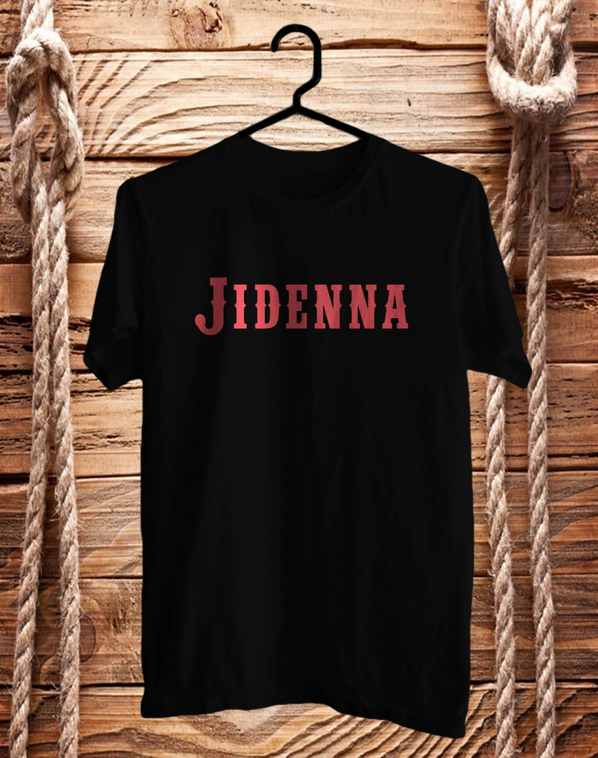 Jidenna logo Black Tee's Front Side by Complexart