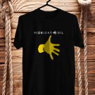 Midnight Oil logo Black Tee's Front Side by Complexart z1