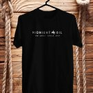 Midnight Oil The Great Circle Tour logo Black Tee's Front Side by Complexart