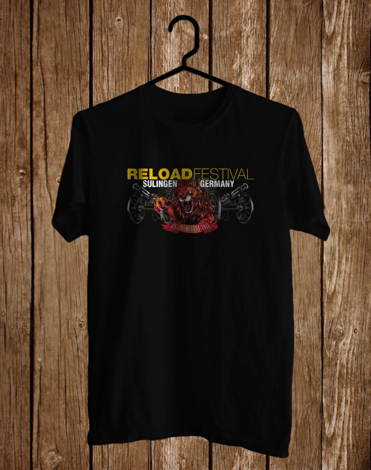 Reload Festival German 2017 Black Tee's Front Side by Complexart