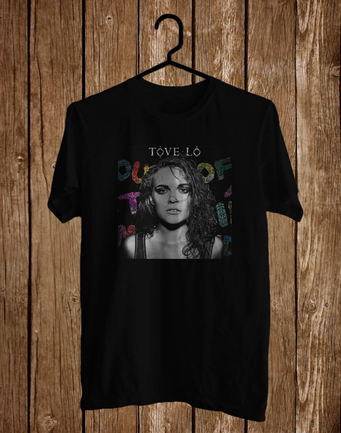 Tove Lo Lady Wood 2017 Black Tee's Front Side by Complexart