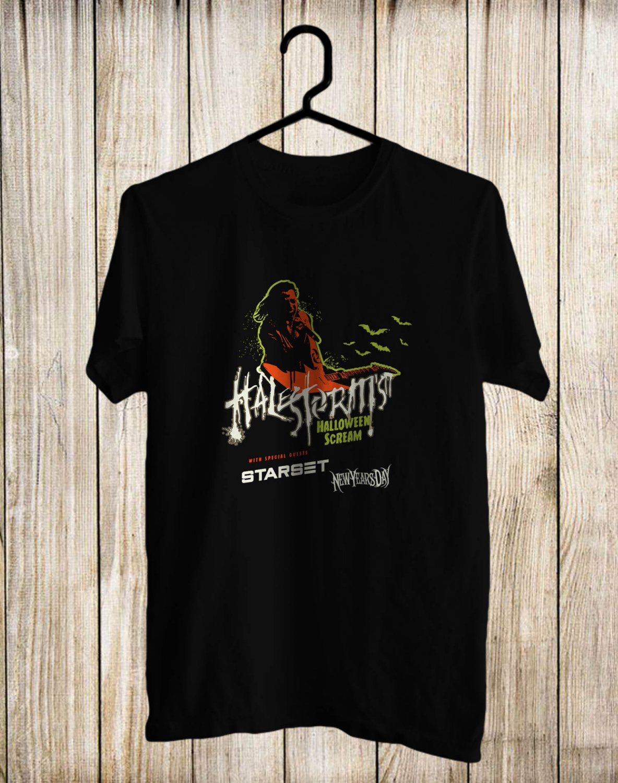 Halestorm Halloween Scream Tour Black Tee's Front Side by Complexart z1