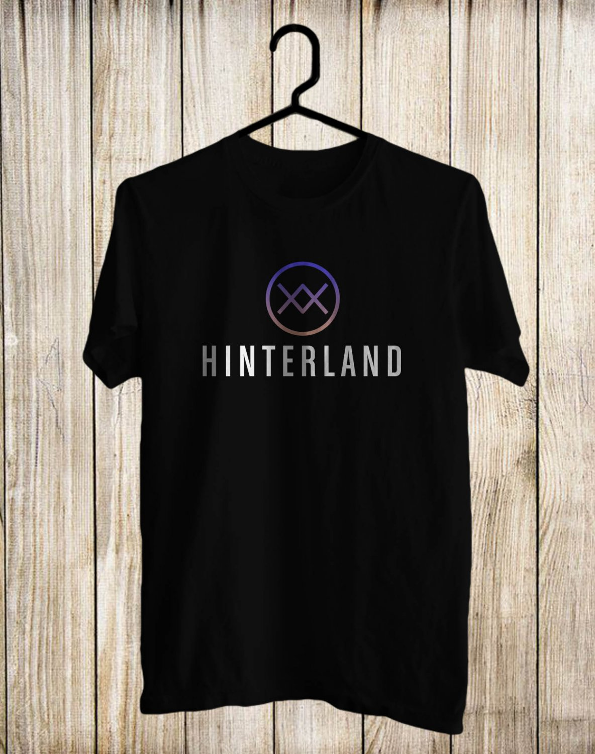 Hinterland Music Festival Logo Black Tee's Front Side by Complexart