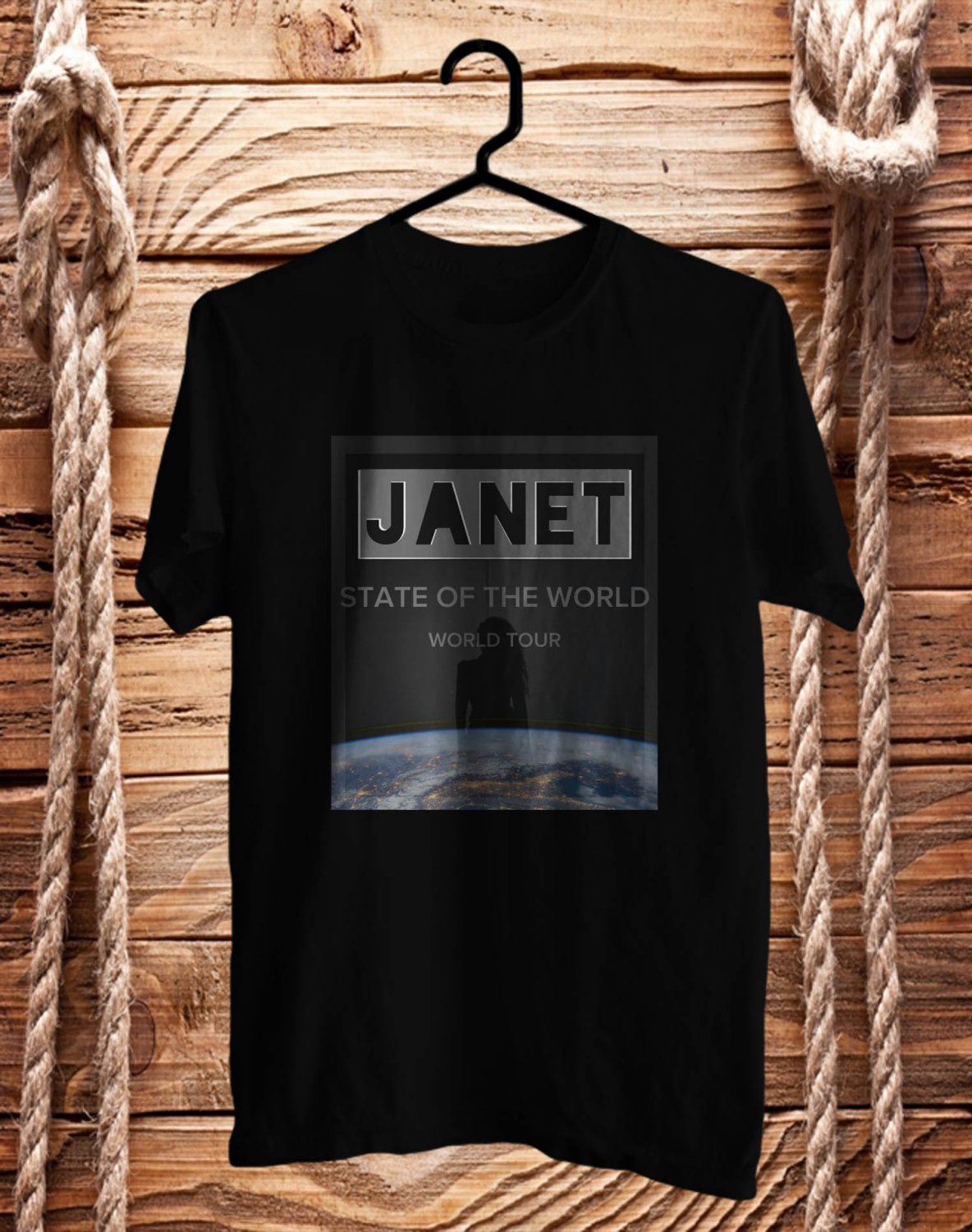 Janet Jackson State of The World Tour 2017 Black Tee's Front Side by Complexart z1