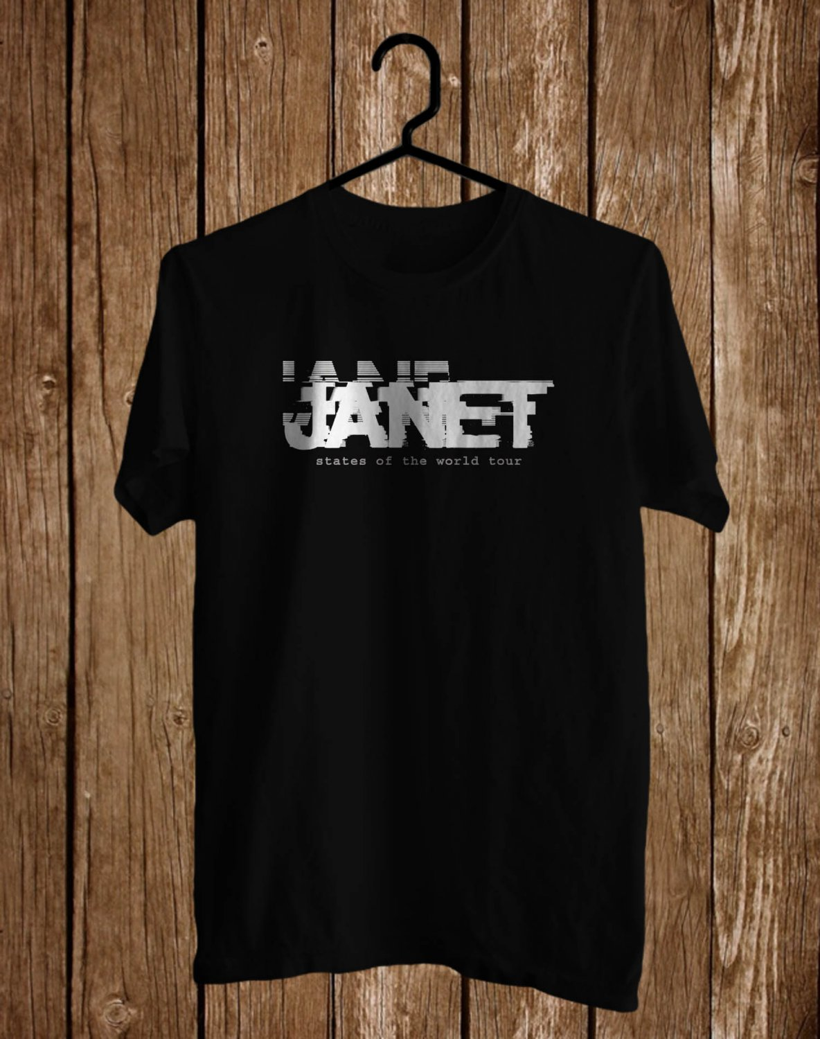Janet J White Logo Black Tee's Front Side by Complexart