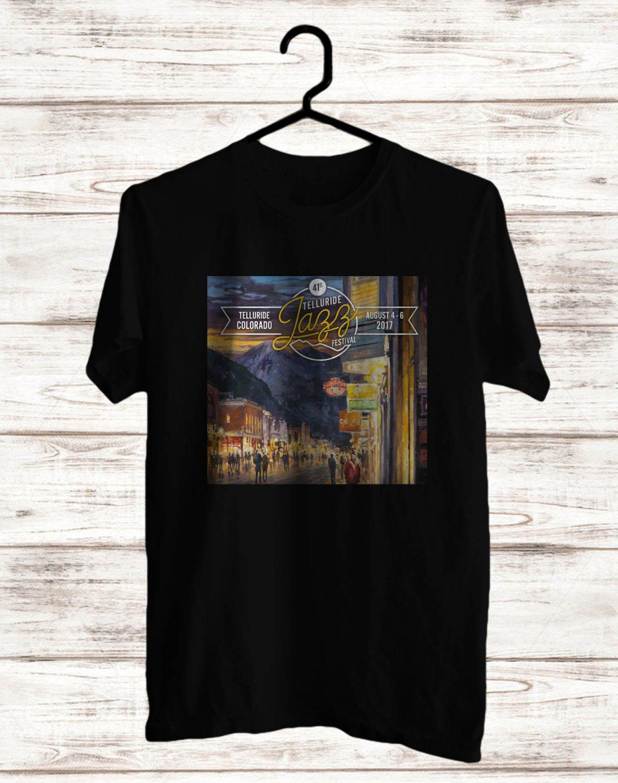 Telluride Jazz Music Festival Logo Black Tee's Front Side by Complexart z2