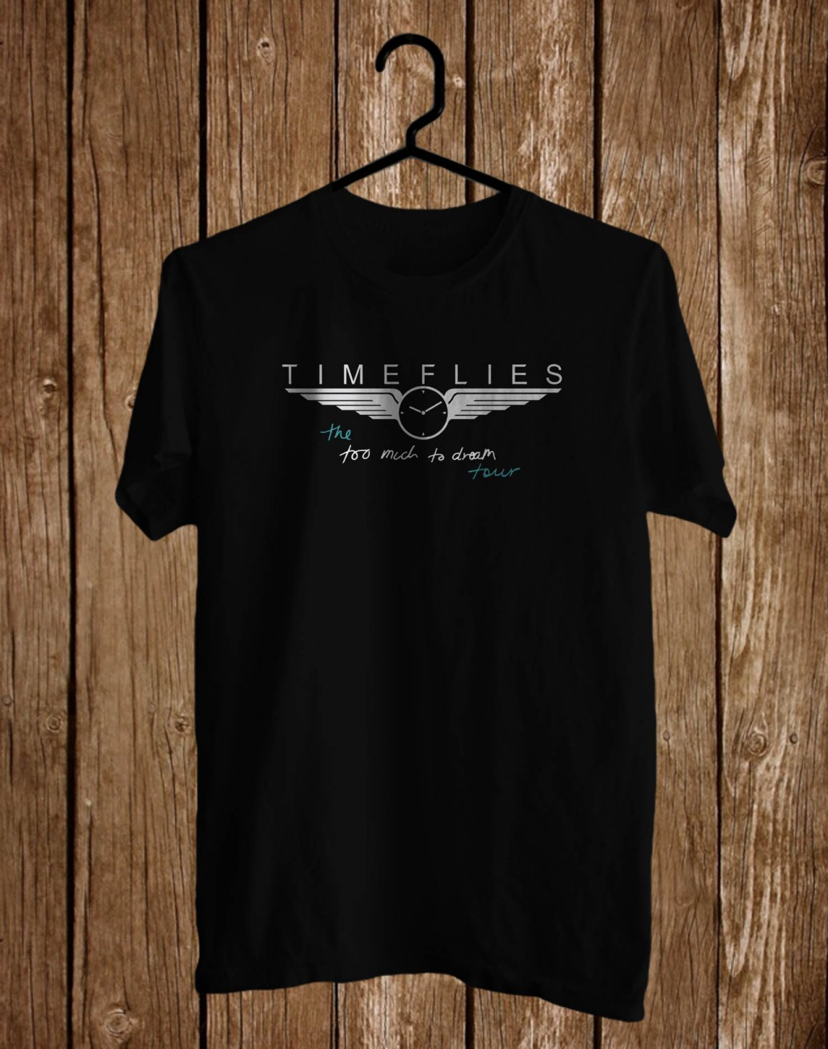 Timeflies Too Much Too Dream Logo Tour 2017 Black Tee's Front Side by Complexart