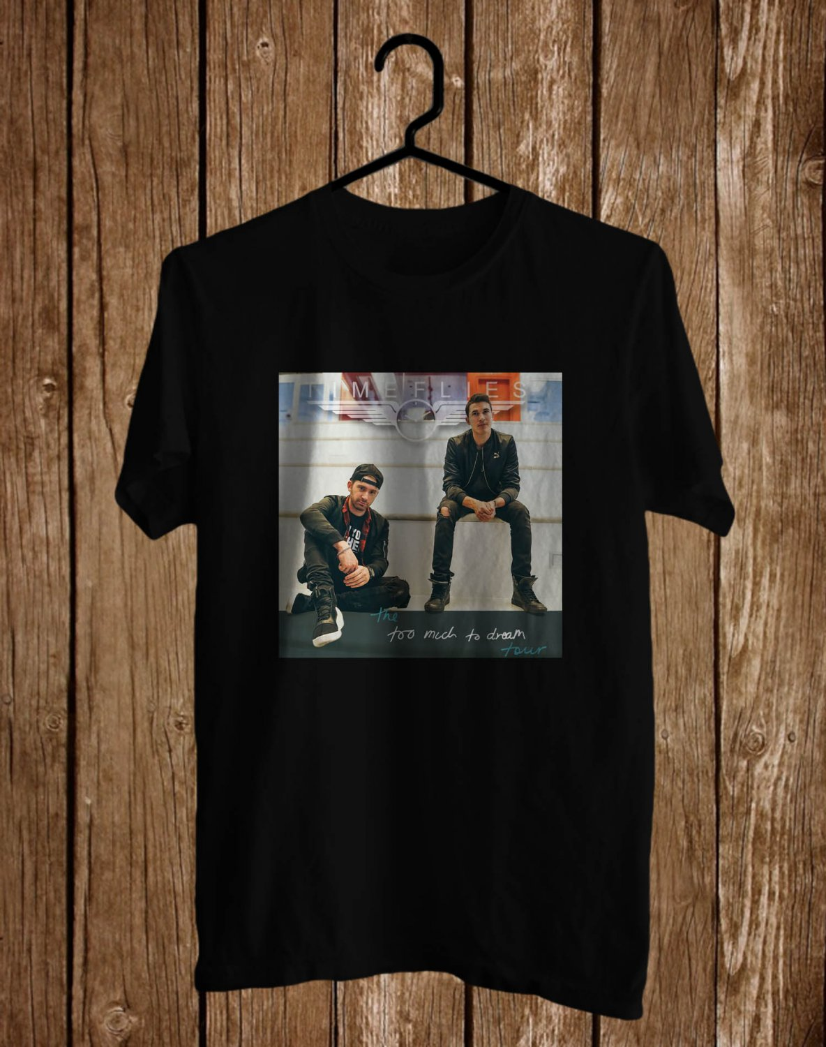 Timeflies Too Much Too Dream Logo Tour 2017 Black Tee's Front Side by Complexart z1