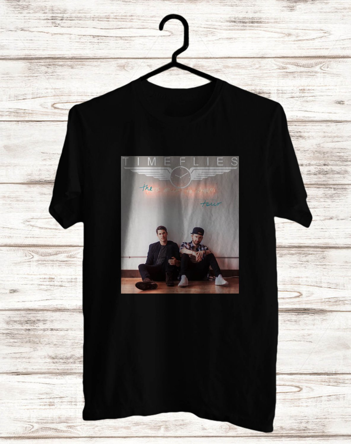 Timeflies Too Much Too Dream Logo Tour 2017 Black Tee's Front Side by Complexart z2