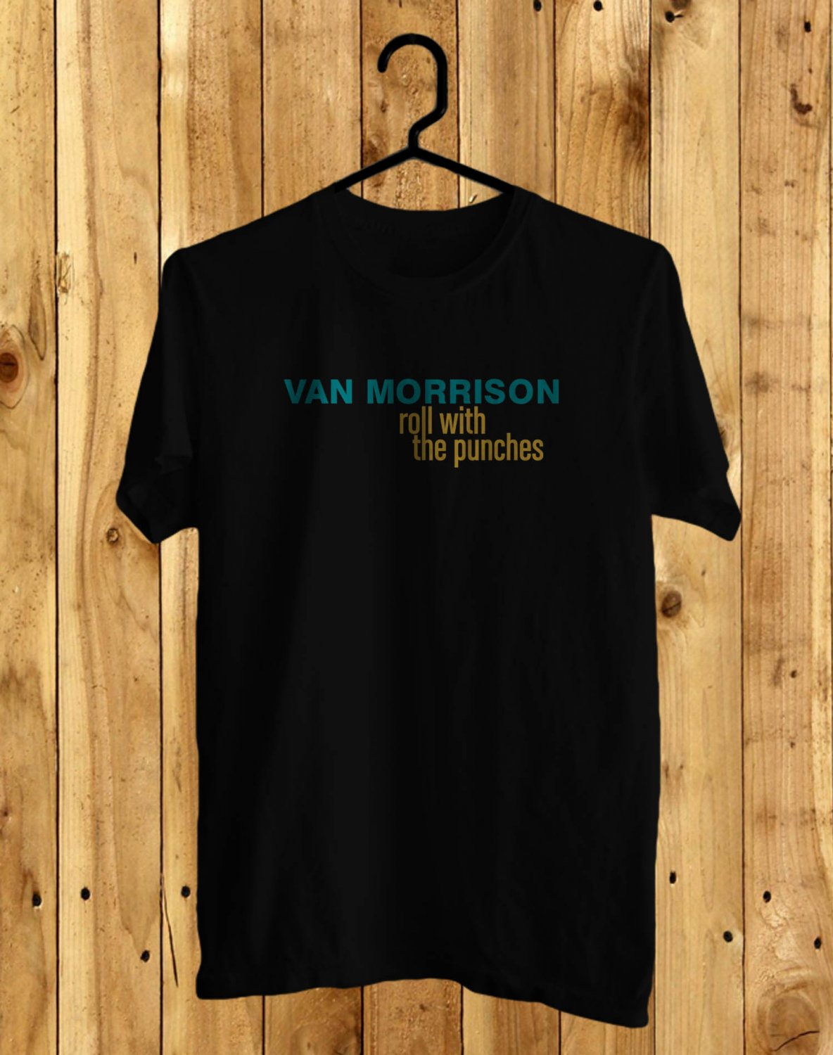 Van Morrison World Live 2017 Black Tee's Front Side by Complexart