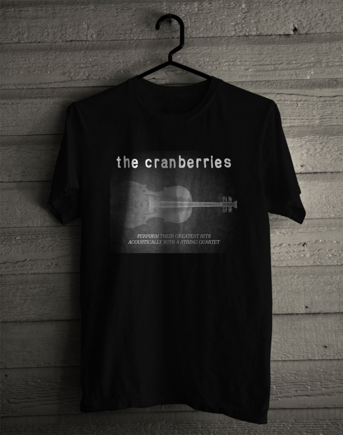 The Cranberries Something Else Tour 2017 Black Tee's Front Side by Complexart z2