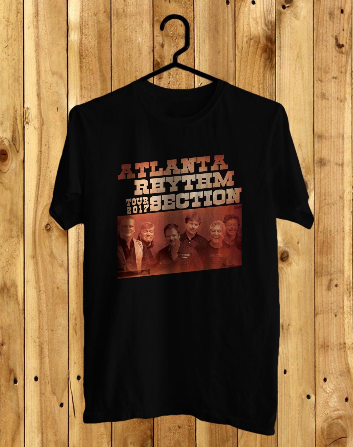 Atlanta Rhythm Section Tour 2017 Black Tee's Front Side by Complexart