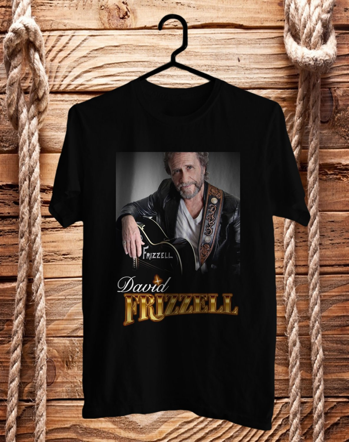 David Frizzell Tour 2017 Black Tee's Front Side by Complexart