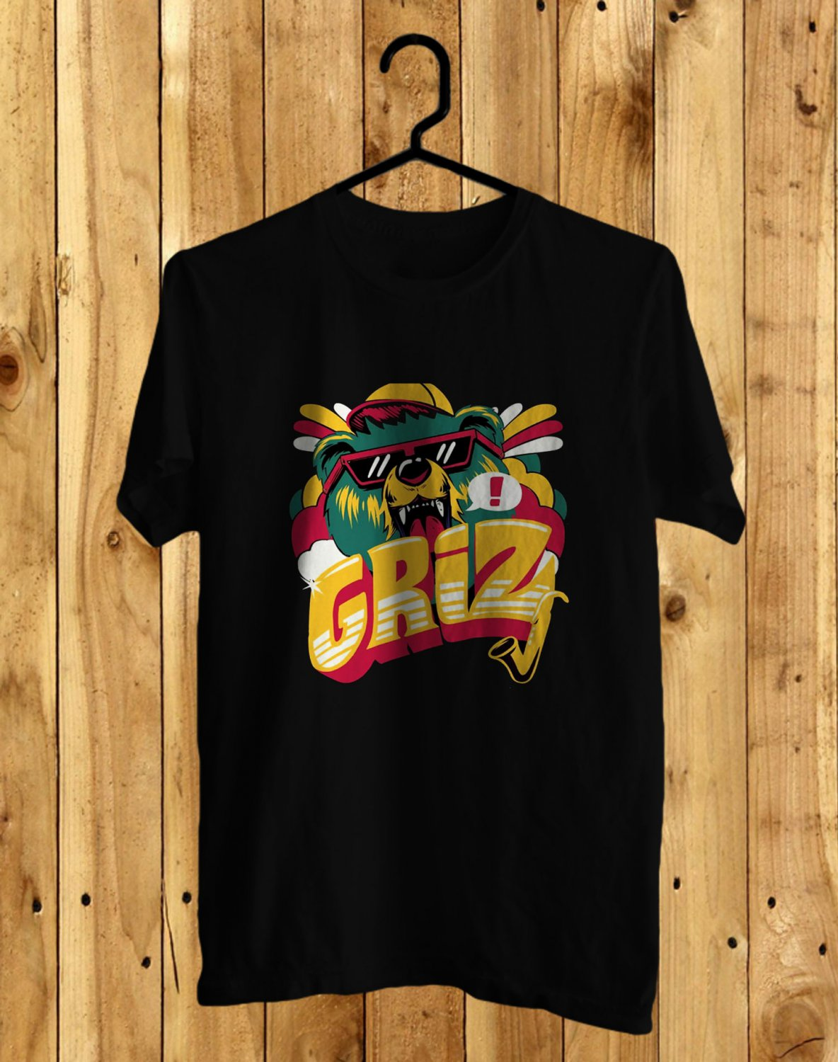 Grizz Black Tee's Front Side by Complexart