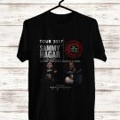 Sammy Hagar and the Circle USA Tour 2017 Black Tee's Front Side by Complexart z1