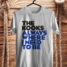 The Kooks Always Where I Need To be White Tee's Front Side by Complexart